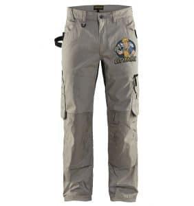 Custom Work Pants - 1690 - Rip Stop Pants - Stone - Front - w logo - WorkwearToronto.com-workwear-toronto - Your Logo - Corporate Apparel - Heat Transfer - Screen Printing - Embroidery