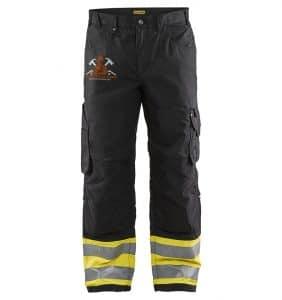 Custom Hi-Vis Safety Pants - 1697 - Hi Vis rip Stop Pants - Black Yellow - Front - WorkWearToronto.com - Workwear Toronto - Your Logo - Corporate Apparel - Heat Transfer - Screen Printing
