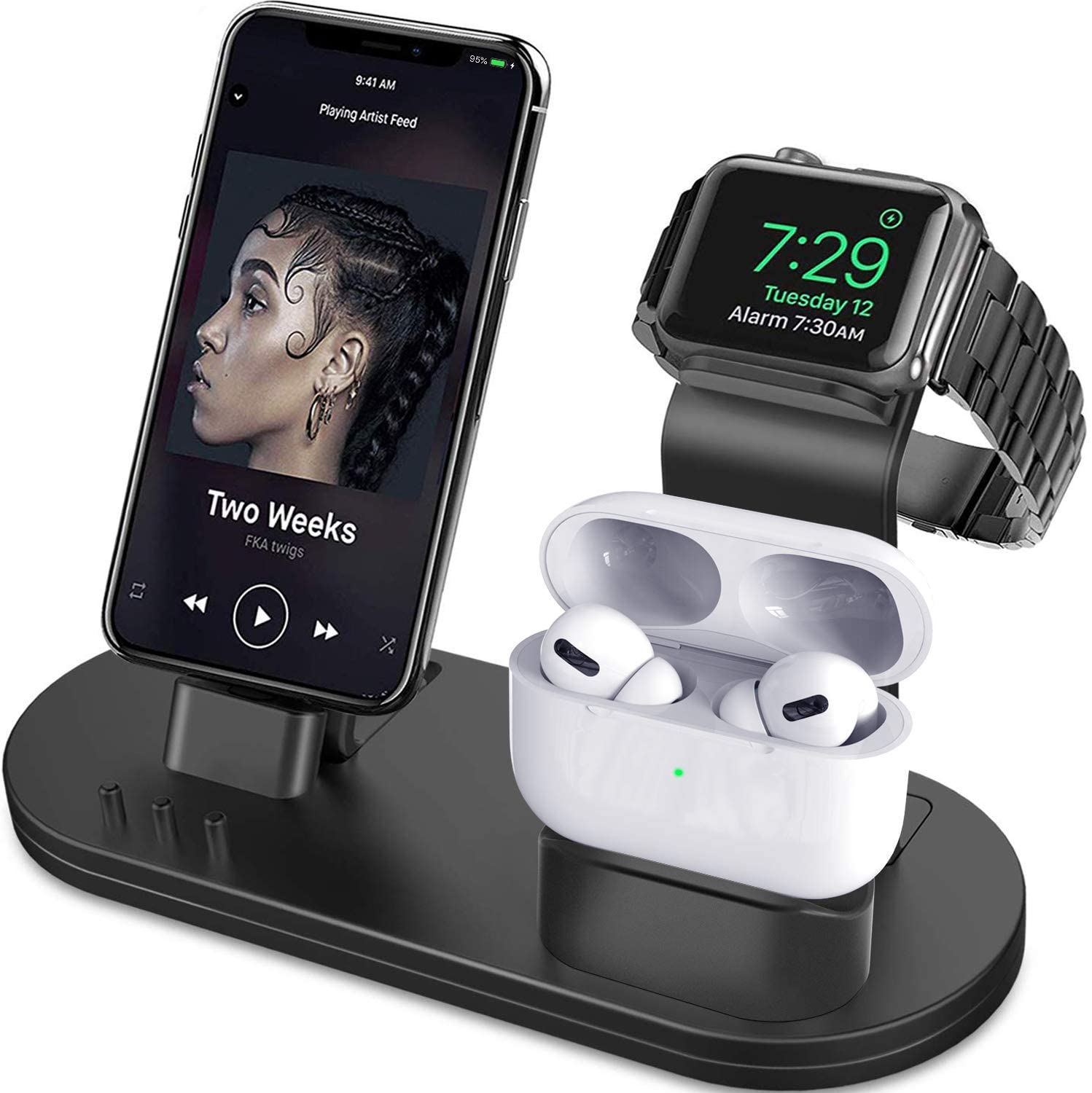 3-in-1 Charging Station - WorkwearToronto.com - Best Christmas Gifts for him For your husband or boyfriend - Amazon