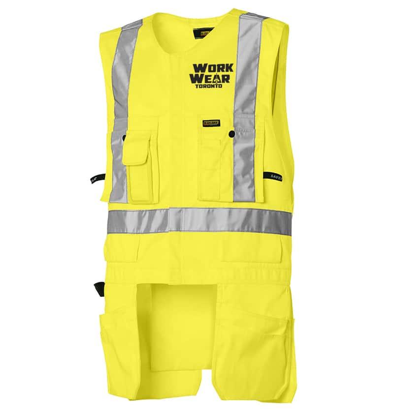 Custom Hi-Viz Safety Vests - 3127 - Hi Vis Utility Vest - Yellow - Front - workweartoronto.com-workwear-toronto - Your Logo - Corporate Apparel - Construction - Heat Transfer - Screen Printing
