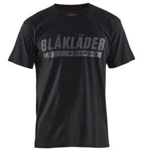 Custom Shirts - T-Shirts - Polos - 3555 - Short Sleeve T-shirt w Logo - Black - Front - WorkWearToronto.com - Workwear Toronto - Your Logo - Heat Transfer - Screen Printing - Embroidery