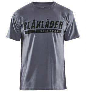 Custom Shirts - Polos - T-Shirts - 3555 - Short Sleeve T-shirt w Logo - Grey - Front - WorkWearToronto.com - Workwear Toronto - Your Logo - Corporate Apparel