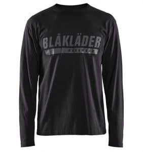 Custom Shirts - Polos & T-Shirts - 3557 - T-shirt Long Sleeves w Print - Black - Front - WorkWearToronto.com - Workwear Toronto - Your Logo - Heat Transfer