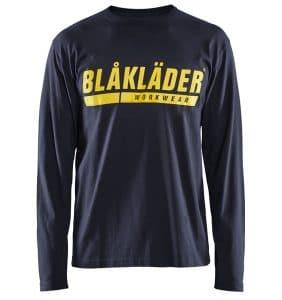 Custom Shirts - Polos - T-Shirts - 3557 - T-shirt Long Sleeves w Print - Navy Blue - Front - WorkWearToronto.com - Workwear Toronto - Your Logo - Heat Transfer - Corporate Apparel