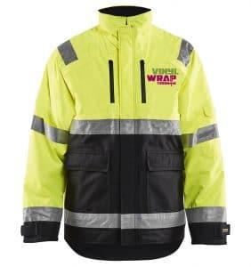 Custom Hi-Vis/Hi-Viz Jackets - 4927 - Hi Vis Winter Jacket - Yellow Black - Front - WorkwearToronto.com-workwear-toronto - Your Logo - Safety Wear - Heat Transfer - Screen Printing - Embroidery