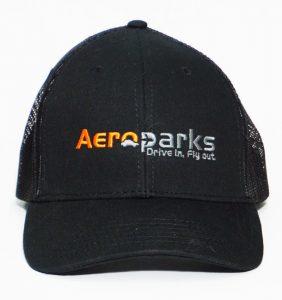 Custom Headwear - Aero Parks - Embroidery - Black cap - workweartoronto.com - Workwear Toronto - Your Logo - Baseball Caps - Corporate Apparel in GTA