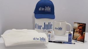 All for Julie - The Movie - Promotional Products with logo - Cap - Mug - T-Shirts - Cover - Baseball Hat - WorkwearToronto.com - GTA
