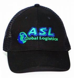 Custom Headwear - Asl Embroidery Black cap-workwear toronto WorkWearToronto.com - Custom Logo - Your Logo - Corporate Apparel - Baseball Hat