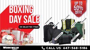 Boxing Day Sale - 2020 - WorkwearToronto.com - Christmas Shopping - Happy Holidays