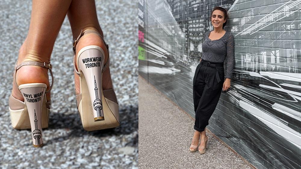 CN Tower Heels - Workwear Toronto - Promotional Products - WorkwearToronto.com - Corporate Apparel - Nesly Emen