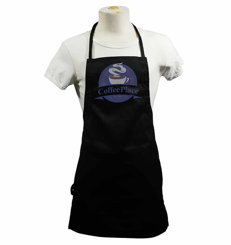 Custom Aprons With your Custom Logo - Coffee Place - Apron - Black - WorkwearToronto.com-workwear-toronto - Corporate Apparel in GTA