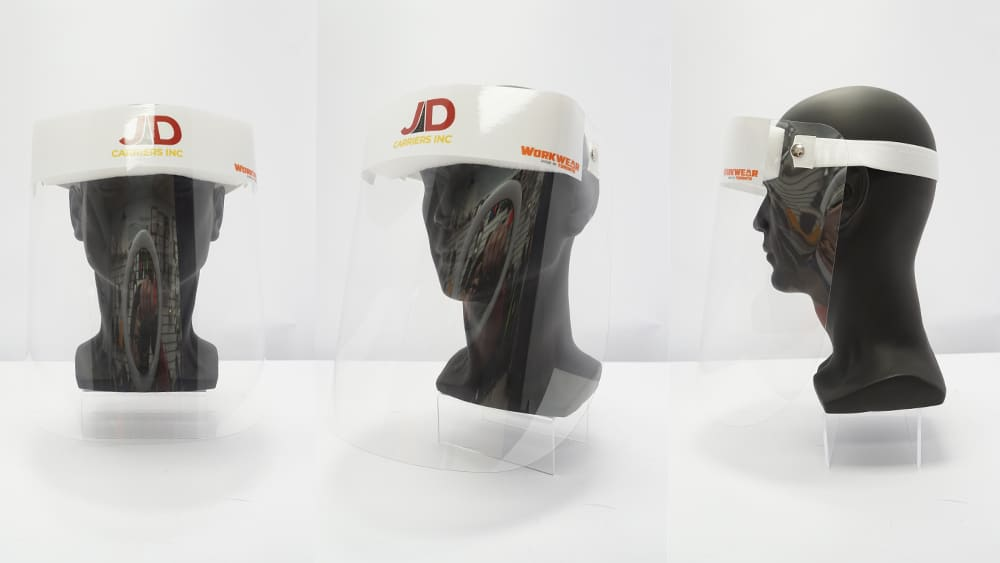 Covid-19 - Pandemic Safety Kit 2020 - WorkwearToronto.com - Custom Logo - Face Shields