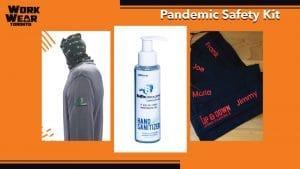 Covid-19 Safety Kit - WorkwearToronto.com - Masks - Hand Sanitizer - Neck Gator
