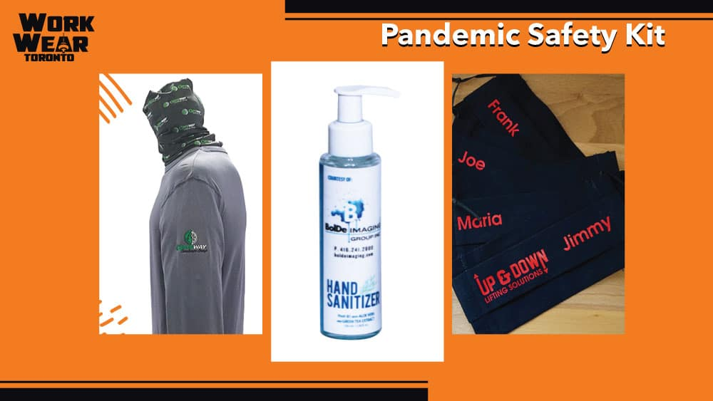 Covid-19 Safety Kit - WorkwearToronto.com - Masks - Hand Sanitizer - Neck Gator - Christmas Gifts 2020 - For ladies