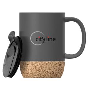 Grey Cork Ceramic Mug Customized Mug - Winter 2021