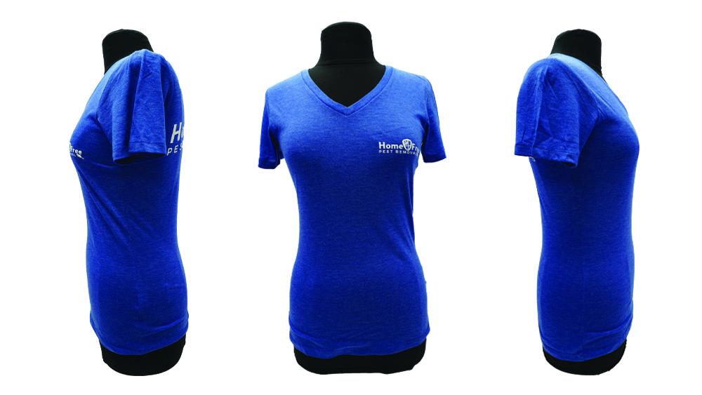 Home Free Pest Rwmoval - WorkwearToronto.com - Custom t-shirts decorated with your company logo Blue
