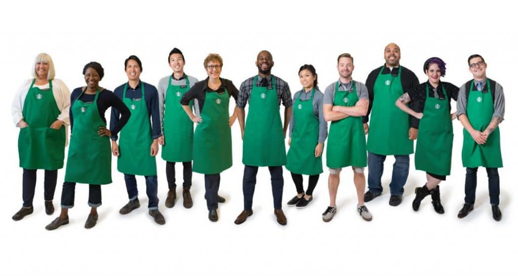 How Custom Staff Uniforms can create Brand Awareness-Starbucks