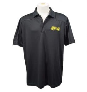Custom Polos - Shirts - T-Shirts - MJW - Polo - Black - Embroider - WorkWearToronto.com - Workwear Toronto - Your Logo - Embroidery