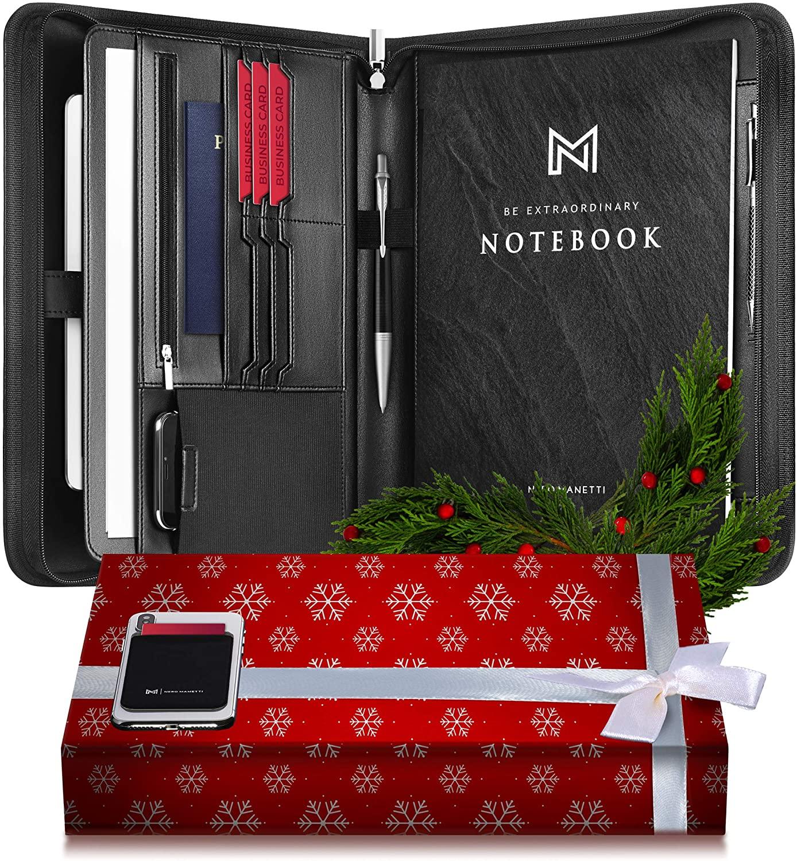 Nero Manetti Leather Padfolio - WorkwearToronto.com - Christmas Gift Ideas for 2020 - Amazon