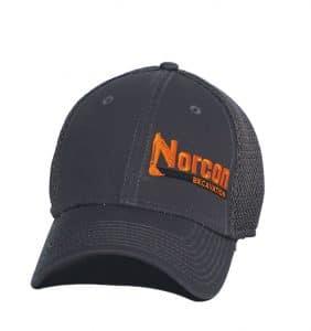 Custom Headwear - Norcon Excavation - Embroidery in Etobicoke - Grey Cap - Workwear Toronto - Your Logo - Promotional Item