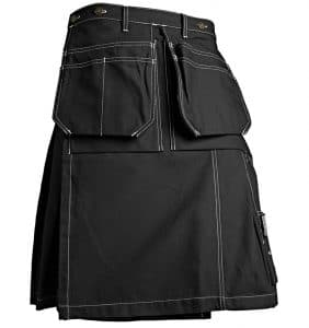 WTBL1627 Black front - Workwear Toronto - Kilt - Corporate Apparel - Promotional Products - Heat transfer - Embroidery