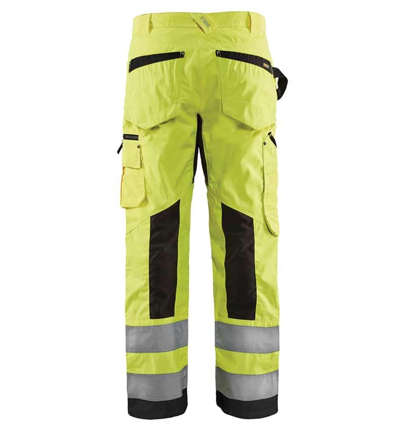 Custom Hi-Vis Work Pants - WTBL1699 Yellow Black Back - Your Logo - Safety Pants - Workwear Toronto - Heat Transfer - Embroidery