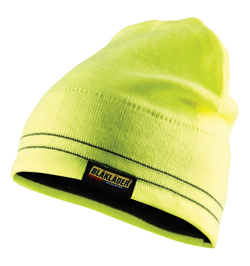 Hi Vis Yellow Reflective Beanie