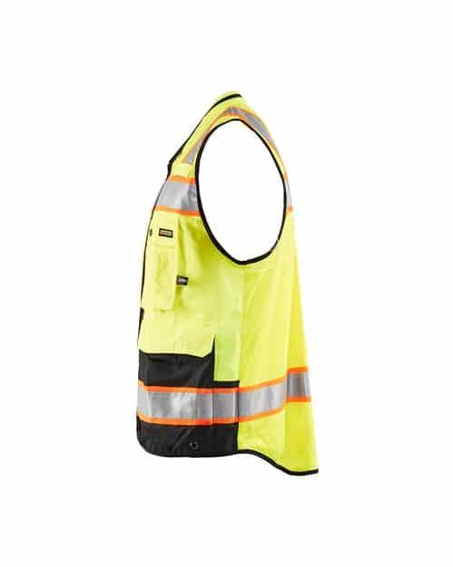 WTBL3132 - Hi-Vis Surveyor's Vest - WorkwearToronto.com - Custom Promotional Products in GTA - Side