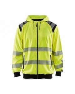 WTBL3446 - Yellow highviz & Black - WorkwearToronto.com - Hi-vis Hoodie