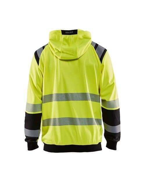 WTBL3446 - Yellow highviz & Black - WorkwearToronto.com - Hi-vis Hoodie - Back