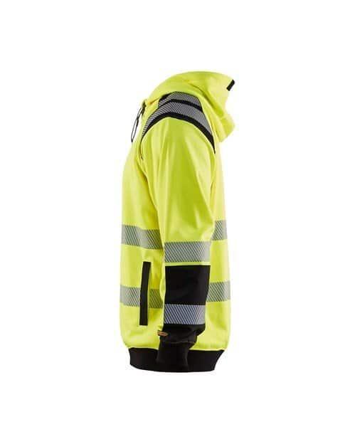 WTBL3446 - Yellow highviz & Black - WorkwearToronto.com - Hi-vis Hoodie - Side