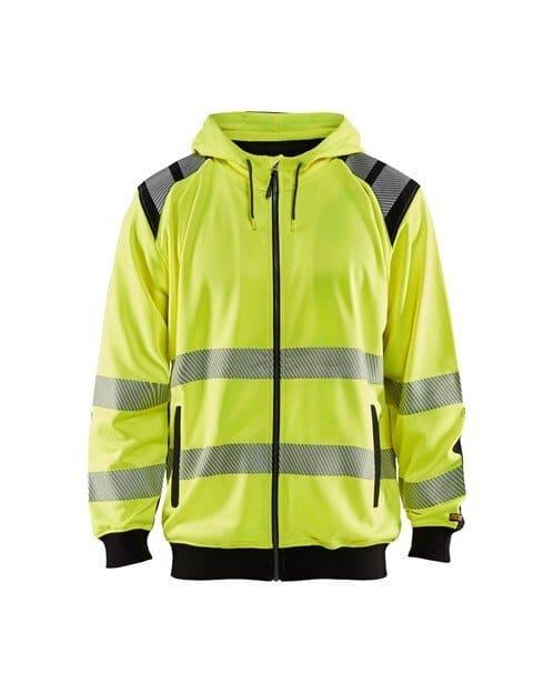 WTBL3446 - Yellow highviz & Black - WorkwearToronto.com - Hi-vis Hoodie Custom Embroidery