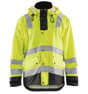 Custom - High Vis Rain Jacket - Your logo - Workwear Toronto - Heat Transfer - Embroidery - Screen Printing - Corporate Apparel - WTBL4312 - Yellow Black - Front
