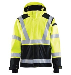 Custom hi-vis jackets with your logo - Corporate apparel in GTA - Promotional Products - Men's Jackets - WTBL4787 Yellow Black front