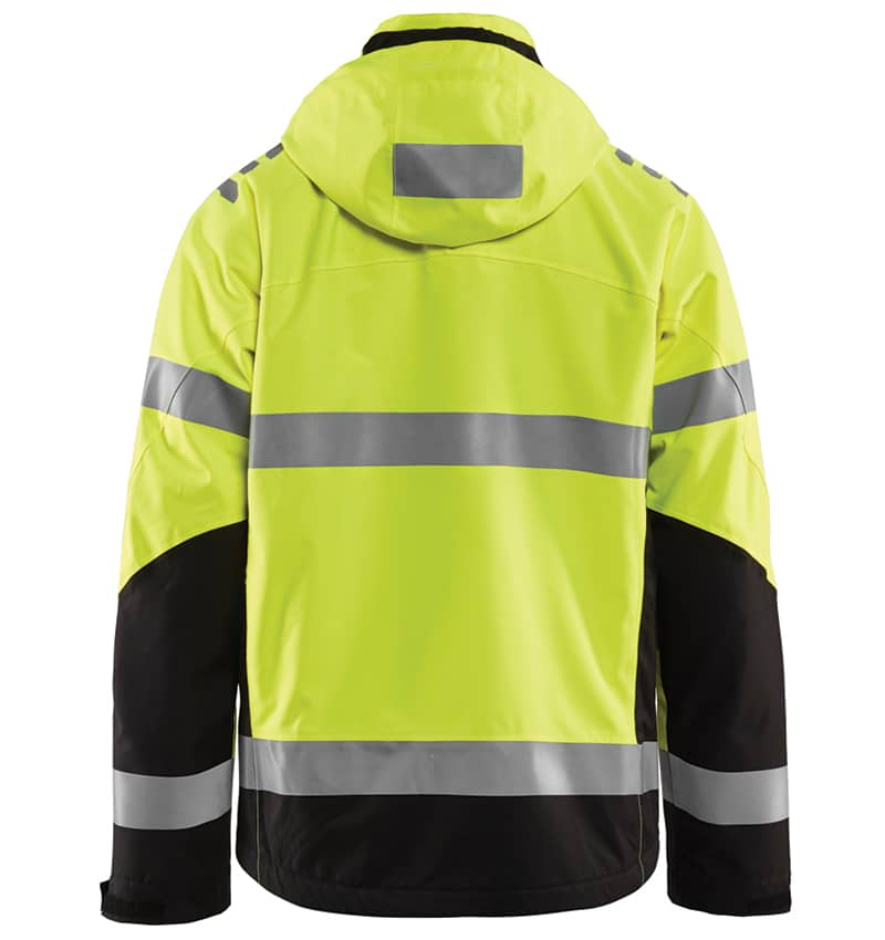 Custom hi-vis mesh jackets with your logo - Corporate Apparel in GTA - Promotional Products - Men's jackets - Screen Printing - Heat Transfer - Embroidery WTBL4789 Yellow Black Back