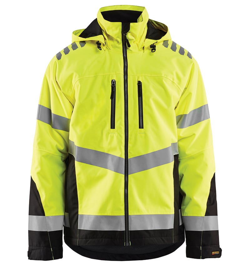 Custom hi-vis mesh jackets with your logo - Corporate Apparel in GTA - Promotional Products - Men's jackets - Screen Printing - Heat Transfer - Embroidery WTBL4789 Yellow Black front