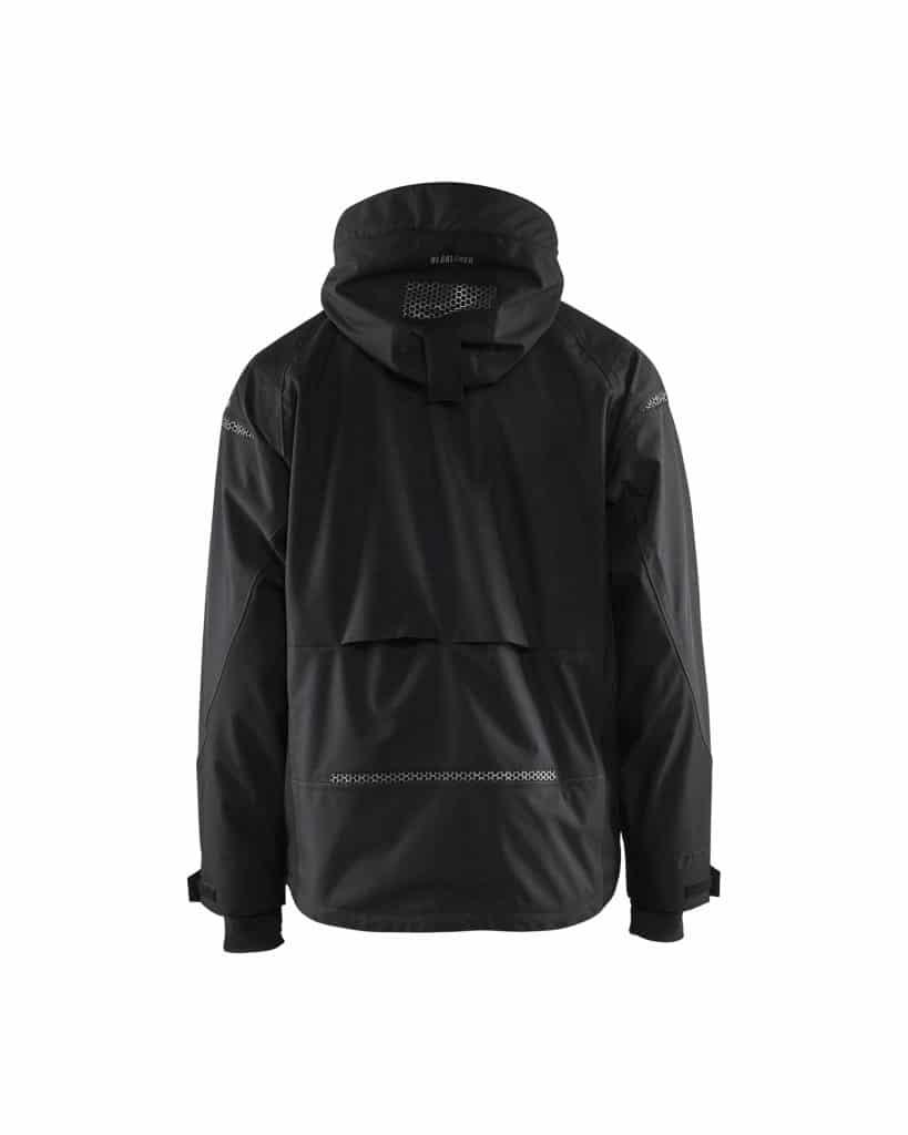 WTBL4797 Black - WorkwearToronto.com - Men's Softshell Jacket - Back