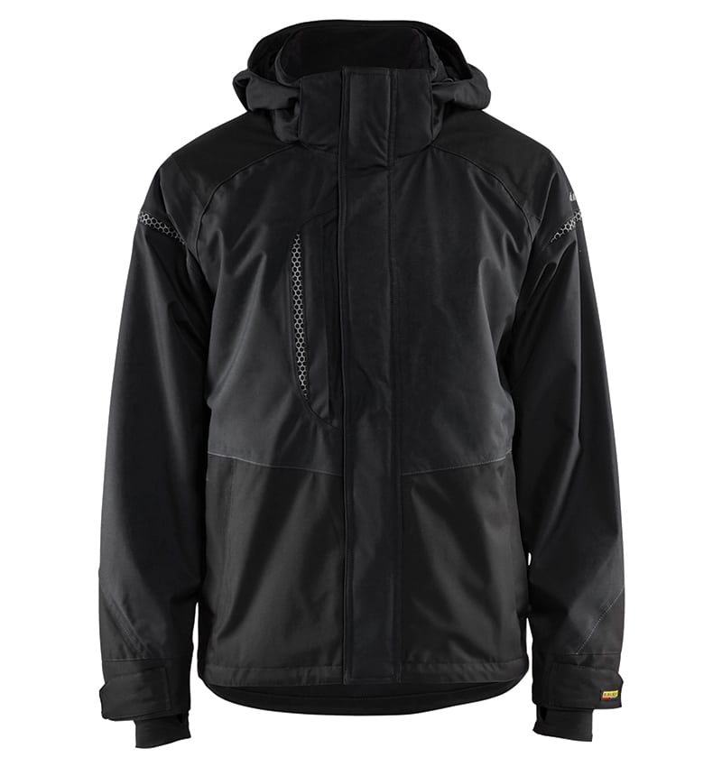 Shell Jackets for men branded with your logo - Corporate Apparel - Promotional Products - Heat Transfer - Screen Printing - Embroidery - WTBL4797 Black front