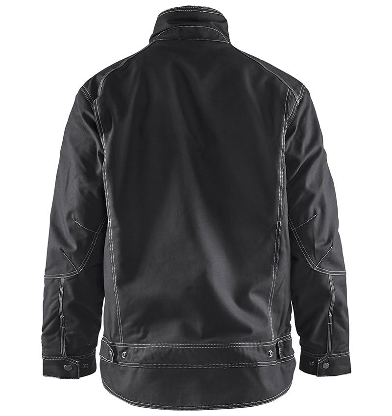 Custom Logo - Pile Lined Jacket - Workwear Toronto - WTBL4816 - Black - back - Heat Transfer - Screen Printing - Embroidery
