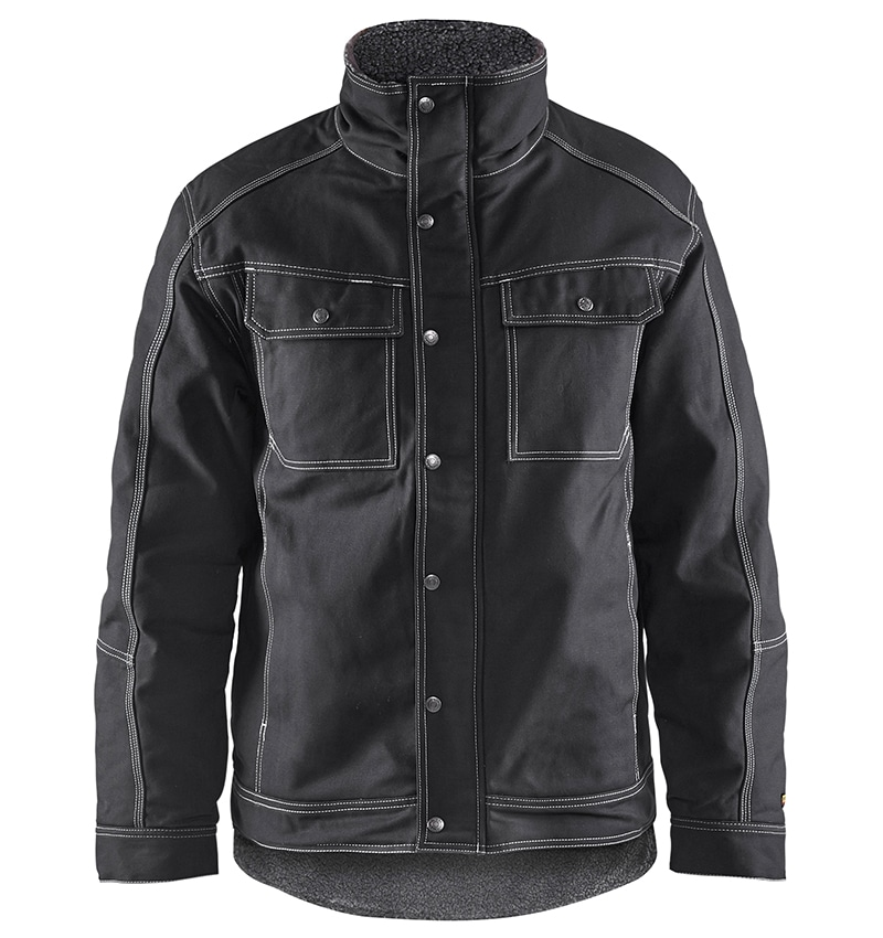 Custom Logo - Pile Lined Jacket - Workwear Toronto - WTBL4816 - Black - Front - Heat Transfer - Screen Printing - Embroidery