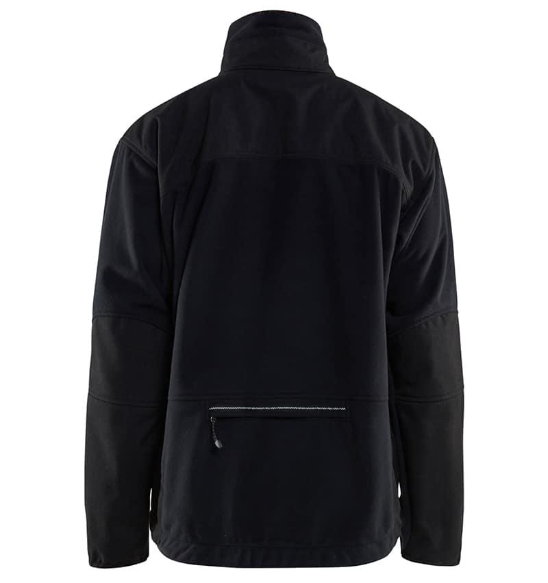 Custom Logo - Fleece jackets - WTBL4855 - Black - Back - Workwear Toronto - Custom Branded items - Heat Transfer, Screen Printing & Embroidery - GTA - Brampton - Etobicoke - Mississauga