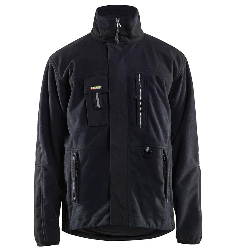 Custom Logo - Fleece jackets - WTBL4855 - Black - Front - Workwear Toronto - Custom Branded items - Heat Transfer, Screen Printing & Embroidery - GTA - Brampton - Etobicoke