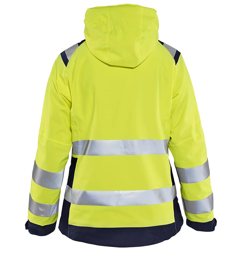 Custom Logo - Safety Jacket - High Visibility - WTBL4904 Yellow Back - Workwear Toronto - Corporate Apparel - Heat Transfer - Screen Printing - Embroidery - Promotional Items