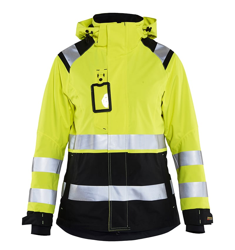 Custom Logo - Safety Jacket - High Visibility - WTBL4904 Yellow front - Workwear Toronto - Corporate Apparel - Heat Transfer - Screen Printing - Embroidery - Promotional Items