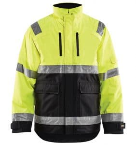 Hi-vis Winter jacket branded with your logo - Corporate apparel in GTA - Promotional products - Heat Transfer - Screen Printing - Embroidery - WTBL4927 Yellow Black Front