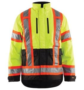 Hi-Vis Winter Jackets with custom logo - promotional products - corporate apparel in GTA - Heat Transfer -Embroidery - Screen Printing - WTBL4928 Yellow Black front