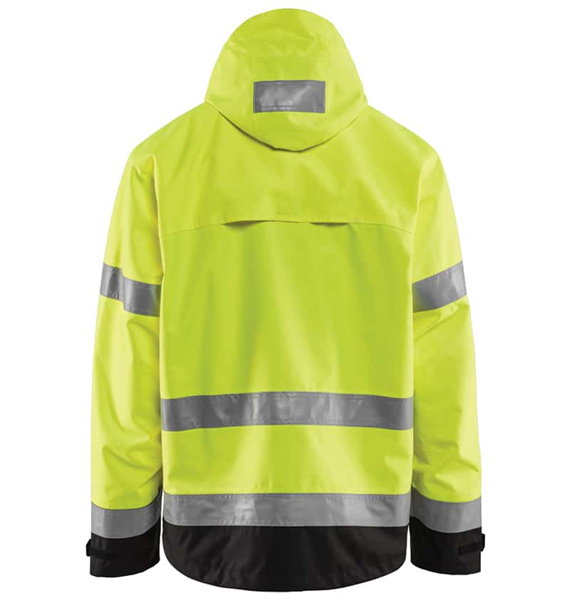 Hi-Vis Shell Jacket - Promotional Products - Corporate Apparel - Safety Jacket - Heat Transfer - WTBL4937 Yellow black Back