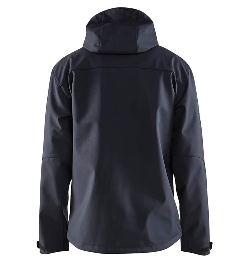 Pro Softshell Jacket With your Logo - Corporate Apparel in GTA - Promotional Products - Heat transfer - Screen Printing - Embroidery WTBL4939 Dark navy and green Back