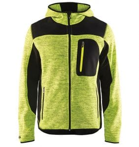 Custom Knitted jacket for men with your logo - Blacklader - Heat Transfer - Screen Printing - Embroidery - Promotional Products - Corporate Apparel in GTA WTBL4940 Yellow Black front