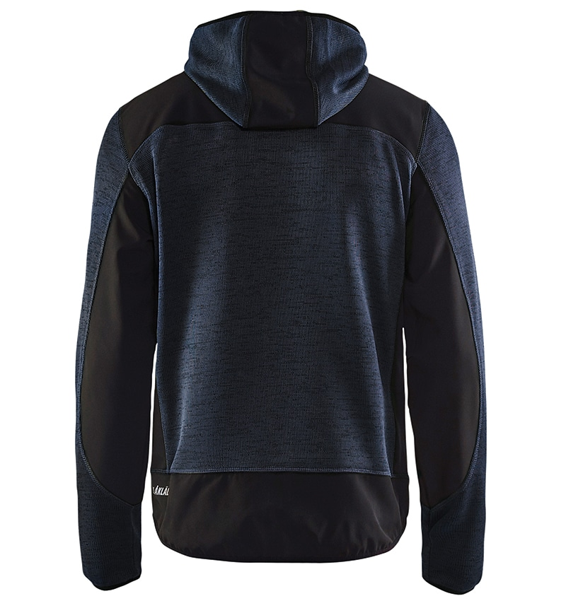 Custom Knitted jacket for men with your logo - Blacklader - Heat Transfer - Screen Printing - Embroidery - Promotional Products - Corporate Apparel in GTA WTBL4940 Dark Grey and Green Back